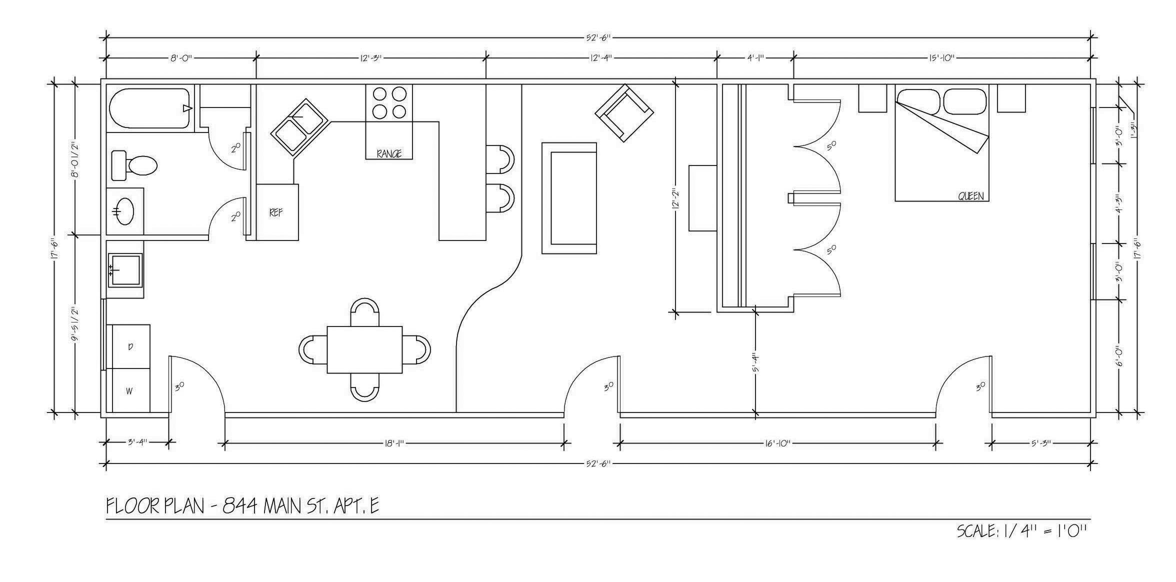 1000 Sq. Ft 2nd Floor Loft Apartment. Click Here For Floor Plan.
